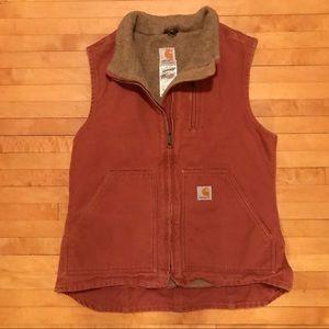 Lined Maroon Carhartt Vest